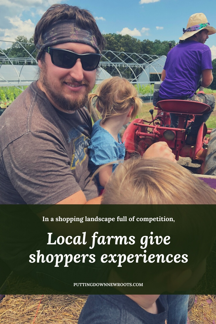 In a retail landscape full of competition, local farms give shoppers experiences.